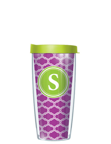 Single Letter Duofoil Purple - Signature Tumblers - Tumbler -  - 2