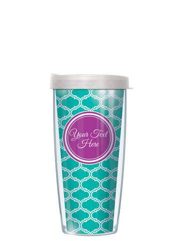 Personalized Text With Font Option Duofoil Teal - Signature Tumblers - Tumbler -  - 2