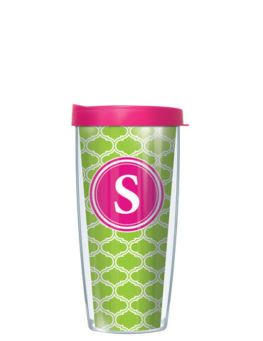 Single Letter Duofoil Lime - Signature Tumblers - Tumbler -  - 2