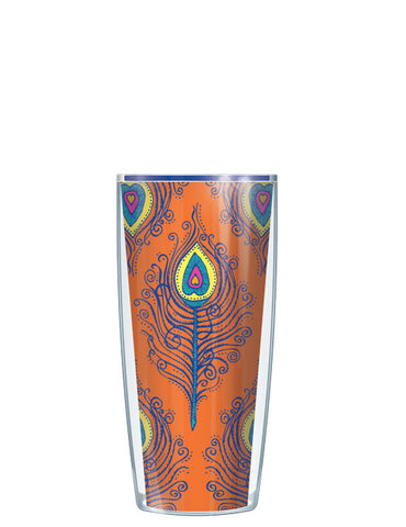 Orange Fancy Feathers Tumbler - Signature Tumblers - Tumbler -  - 1