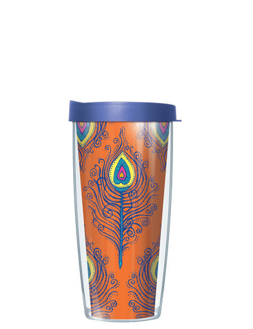 Orange Fancy Feathers Tumbler - Signature Tumblers - Tumbler -  - 2