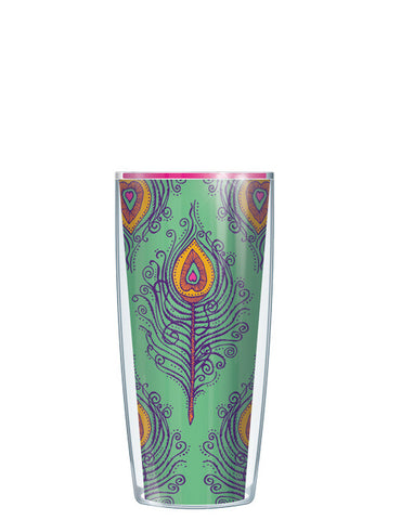 Green Fancy Feathers Tumbler - Signature Tumblers - Tumbler -  - 1