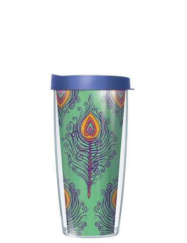 Green Fancy Feathers Tumbler - Signature Tumblers - Tumbler -  - 2