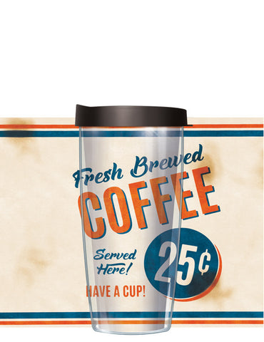 Fresh Brewed Coffee Tumbler