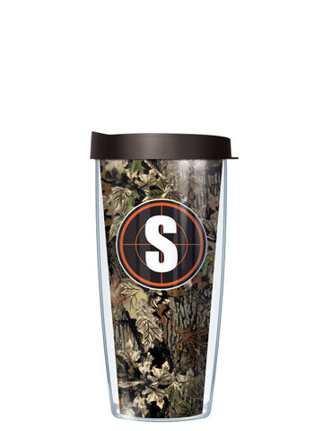Single Letter Fall Camo Orange - Signature Tumblers - Tumbler -  - 2
