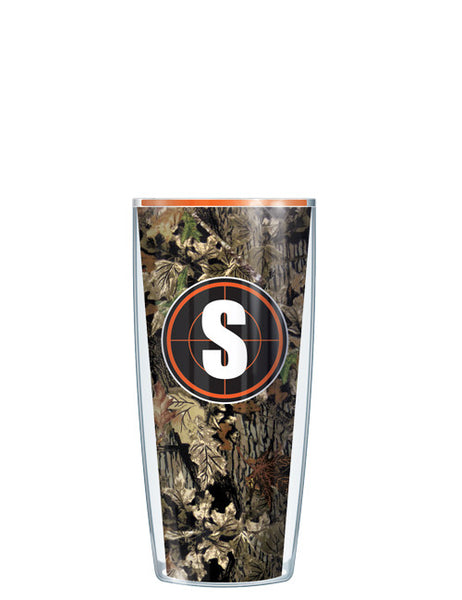 Single Letter Fall Camo Orange - Signature Tumblers - Tumbler -  - 1