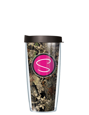 Single Letter Fall Camo Pink - Signature Tumblers - Tumbler -  - 2