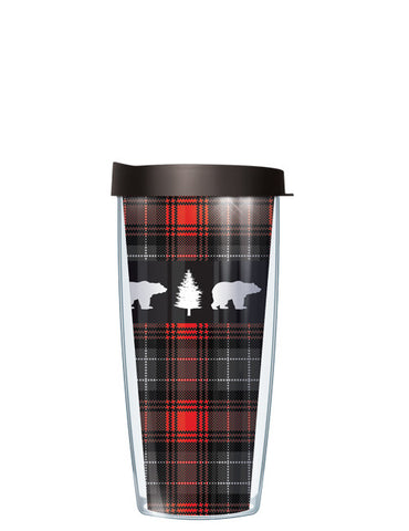 Bear on Red Flannel Tumbler - Signature Tumblers - Tumbler -  - 2