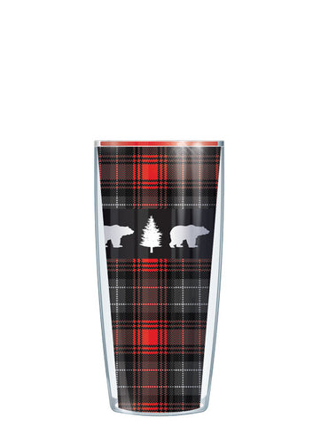 Bear on Red Flannel Tumbler - Signature Tumblers - Tumbler -  - 1