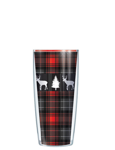 Deer on Red Flannel Tumbler - Signature Tumblers - Tumbler -  - 1