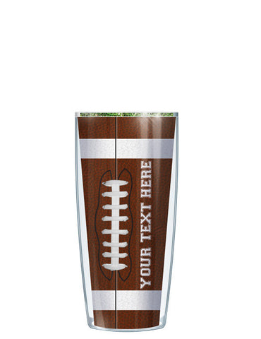 Personalized Text Football - Signature Tumblers - Tumbler -  - 1
