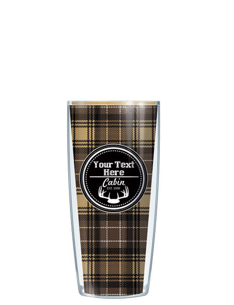 Personalized Text Cabin Navy - Signature Tumblers - Tumbler -  - 1