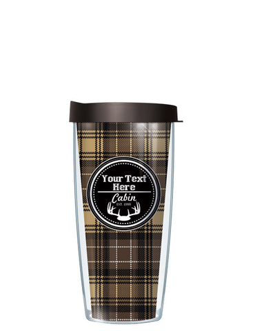 Personalized Text Cabin Navy - Signature Tumblers - Tumbler -  - 2
