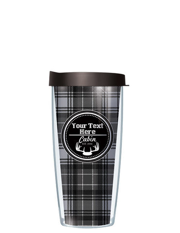Personalized Text Cabin Black - Signature Tumblers - Tumbler -  - 2