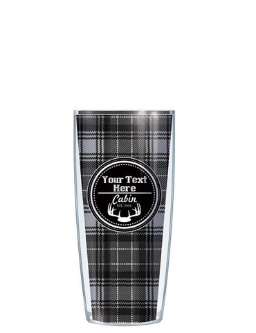 Personalized Text Cabin Black - Signature Tumblers - Tumbler -  - 1