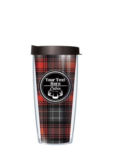 Personalized Text Cabin Red - Signature Tumblers - Tumbler -  - 2
