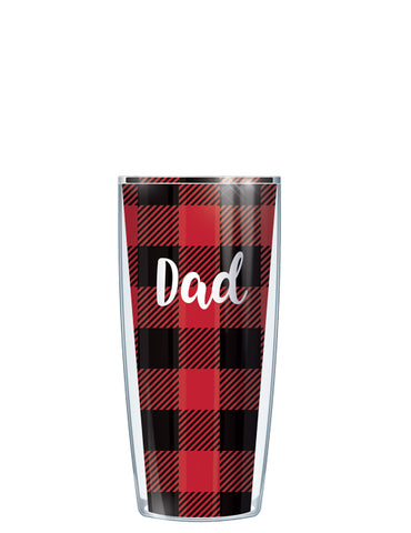 Dad on Buffalo Plaid