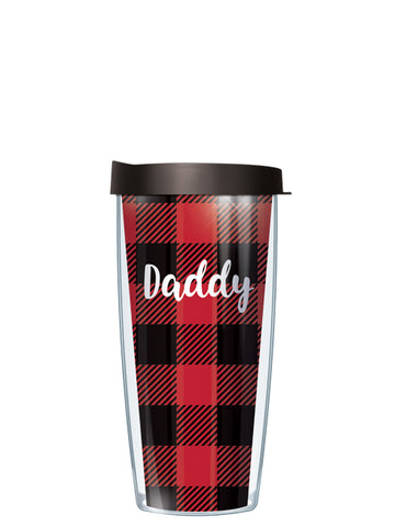 Daddy on Buffalo Plaid