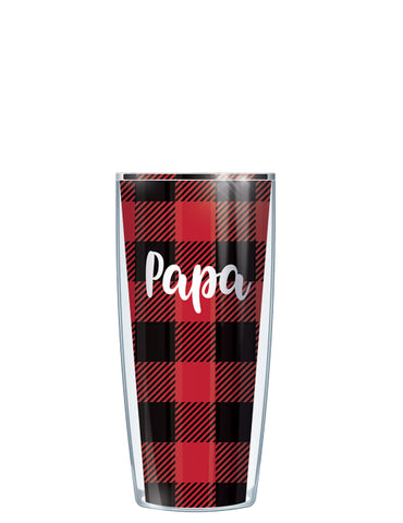 Papa on Buffalo Plaid