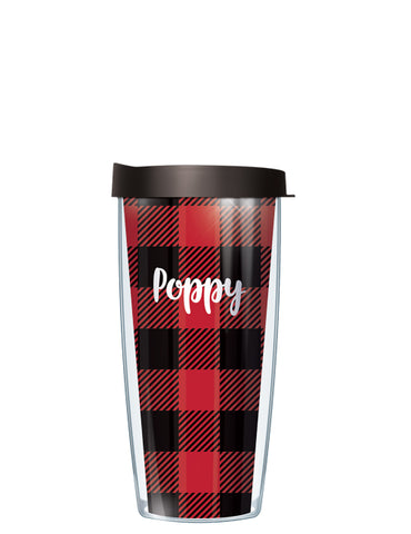 Poppy on Buffalo Plaid