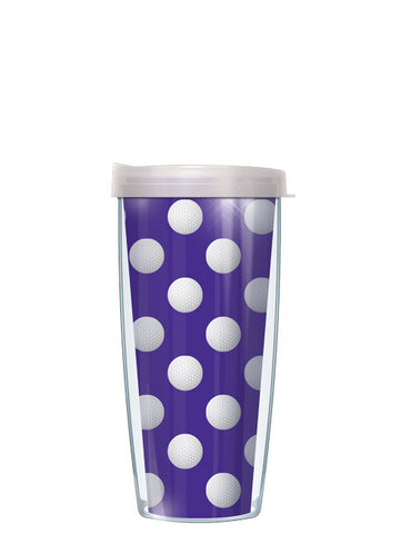 Golf Dots on Violet Tumbler - Signature Tumblers - Tumbler -  - 2