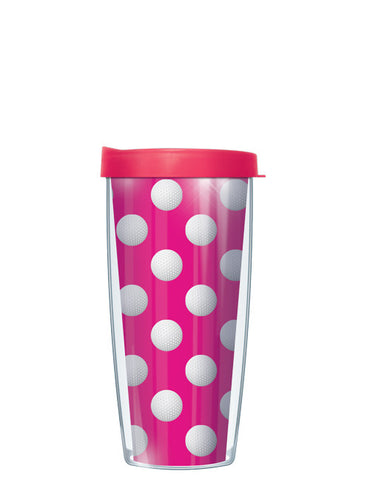 Golf Dots on Pink Tumbler - Signature Tumblers - Tumbler -  - 2