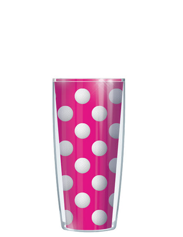 Golf Dots on Pink Tumbler - Signature Tumblers - Tumbler -  - 1