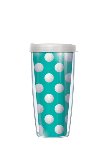 Golf Dots on Teal Tumbler - Signature Tumblers - Tumbler -  - 2