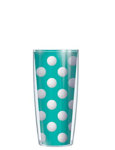 Golf Dots on Teal Tumbler - Signature Tumblers - Tumbler -  - 1