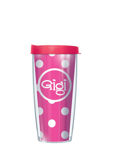 Gigi on Pink Dots - Signature Tumblers - Tumbler -  - 2