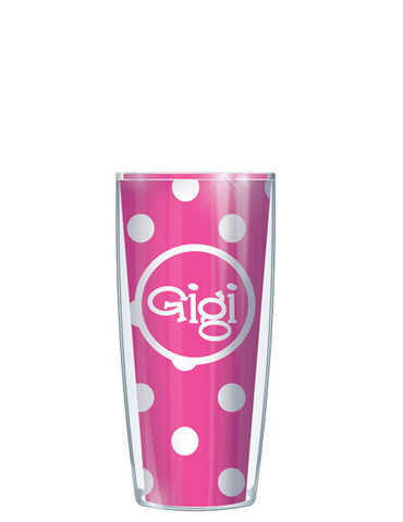 Gigi on Pink Dots - Signature Tumblers - Tumbler -  - 1