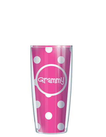 Grammy on Pink Dots - Signature Tumblers - Tumbler -  - 1