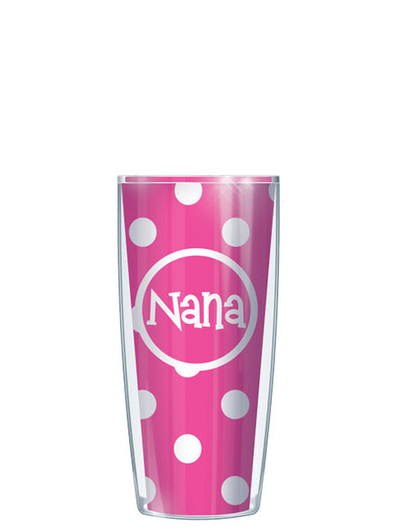 Nana on Pink Dots - Signature Tumblers - Tumbler -  - 1