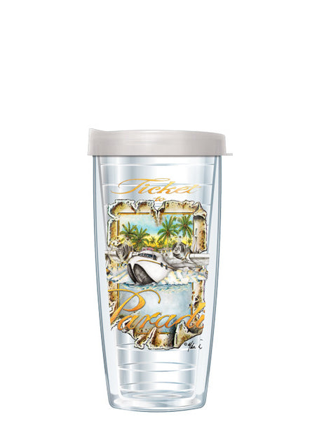 Ticket to Paradise by Mike Williams - Signature Tumblers -  -  - 2