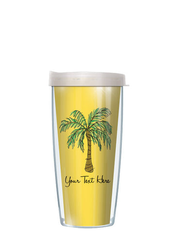 Personalized Text Palm Tree Yellow - Signature Tumblers - Tumbler -  - 2