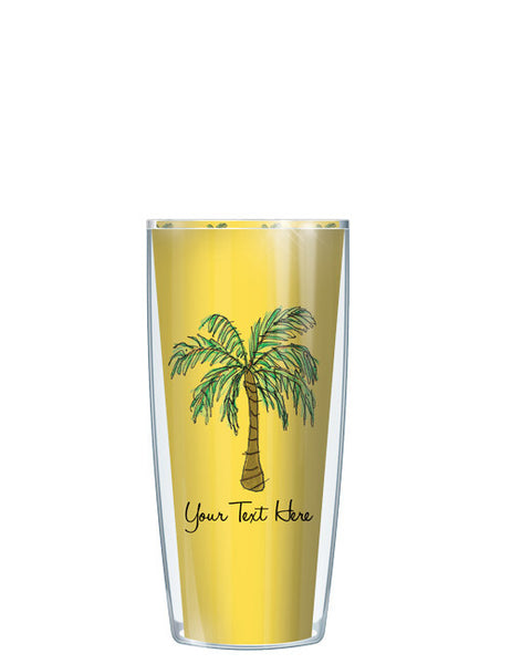 Personalized Text Palm Tree Yellow - Signature Tumblers - Tumbler -  - 1