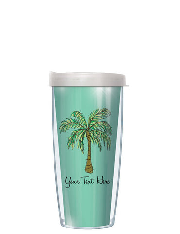 Personalized Text Palm Tree Green - Signature Tumblers - Tumbler -  - 2