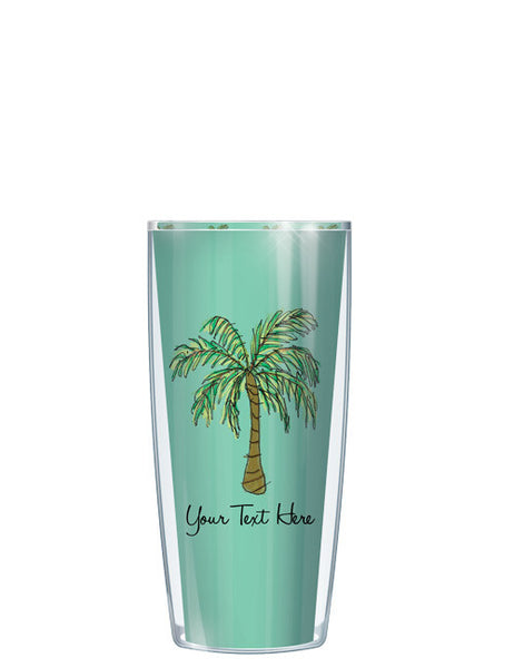 Personalized Text Palm Tree Green - Signature Tumblers - Tumbler -  - 1