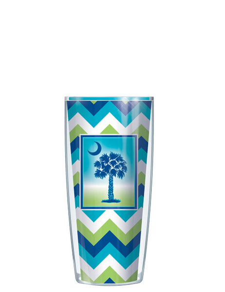 Tropical Blue Palmetto Moon Tumbler - Signature Tumblers - Tumbler -  - 1