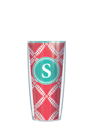 Single Letter Royal Diamonds Red - Signature Tumblers - Tumbler -  - 1