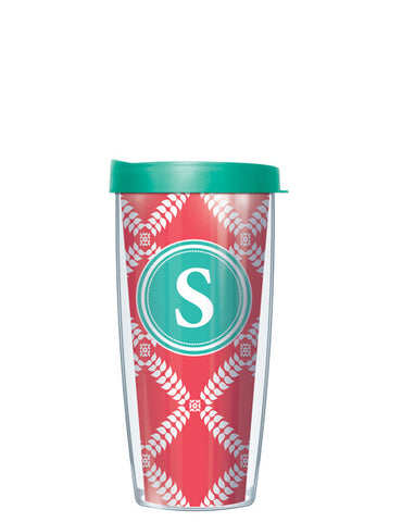 Single Letter Royal Diamonds Red - Signature Tumblers - Tumbler -  - 2