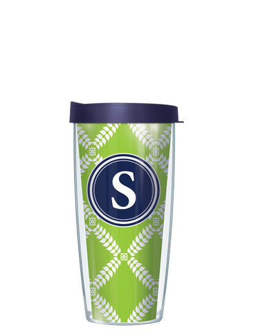 Single Letter Royal Diamonds Lime - Signature Tumblers - Tumbler -  - 2