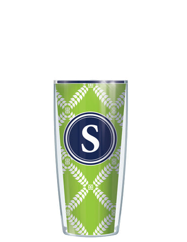 Single Letter Royal Diamonds Lime - Signature Tumblers - Tumbler -  - 1