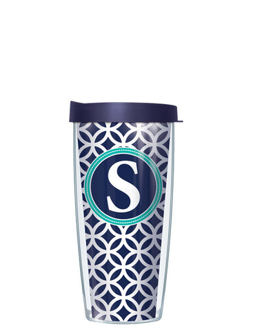 Single Letter Roundabout Navy - Signature Tumblers - Tumbler -  - 2