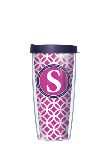 Single Letter Roundabout Pink - Signature Tumblers - Tumbler -  - 2