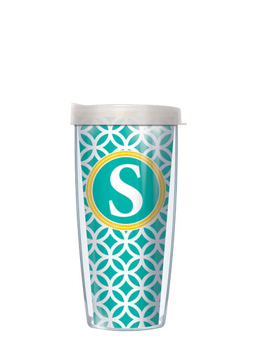 Single Letter Roundabout Teal - Signature Tumblers - Tumbler -  - 2