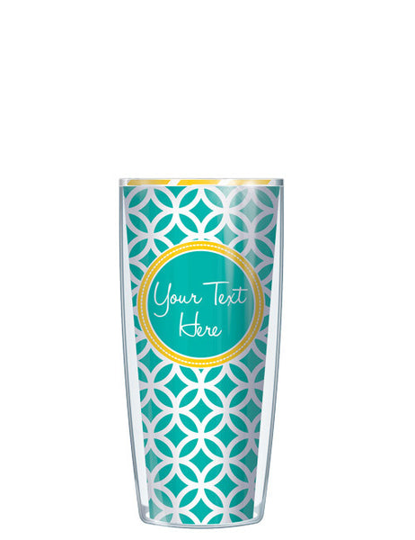 Personalized Text With Font Option Roundabout Teal - Signature Tumblers - Tumbler -  - 1