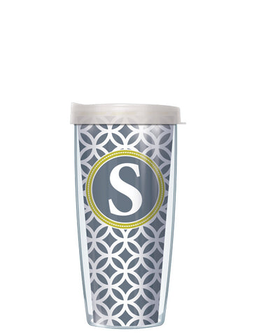 Single Letter Roundabout Gray - Signature Tumblers - Tumbler -  - 2