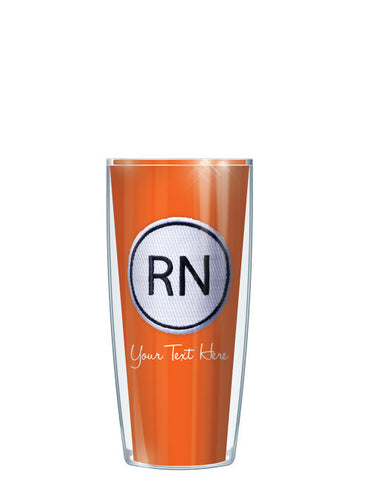 Personalized Text With Font Option RN ON Orange - Signature Tumblers - Tumbler -  - 1