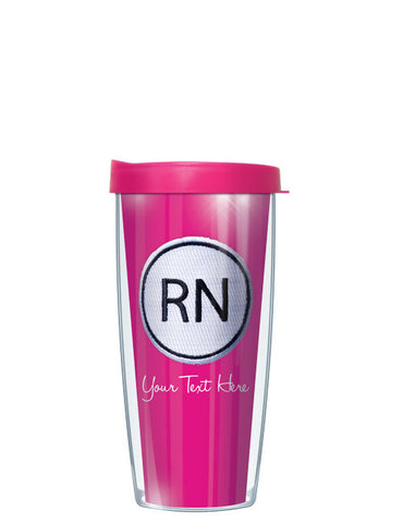 Personalized Text With Font Option RN ON Pink - Signature Tumblers - Tumbler -  - 2